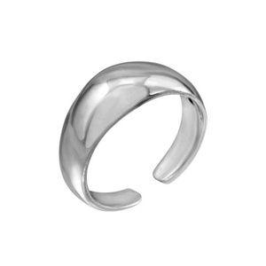 Sterling silver Plain Rounded Adjustable Toe Ring
